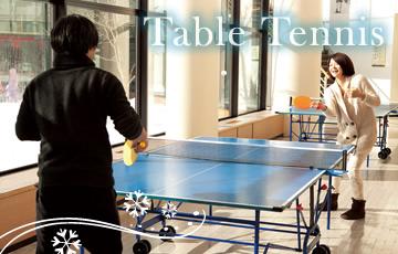 クラブメッド北海道 冬 卓球イメージ