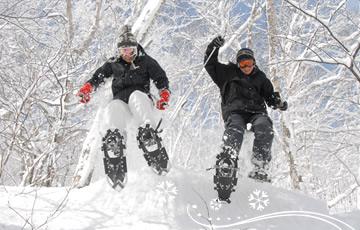 クラブメッド北海道 冬 スノーシュー・ダウンヒルイメージ